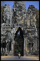 The South Gate of Angkor Thom is crowned by four gargantuan faces. Siem Riep, Angkor, Cambodia