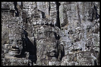 Details of the faces in the Bayon, Angkor Thom. Siem Riep, Angkor, Cambodia