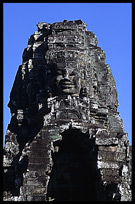The Bayon, 54 gothic towers decorated with 200 smiling faces. Siem Riep, Angkor, Cambodia