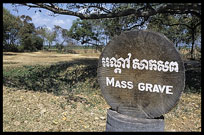 One of the many mass graves at Choeung Ek, the Killing Fields.