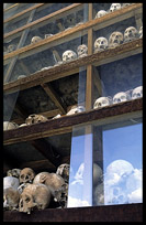 The memorial stupa at Choeung Ek, the Killing Fields, holds more than 8000 skulls.