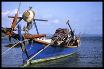 A fishing boat at a fishing community near Sihanoukville.