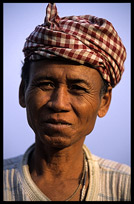 Portrait of a Cambodian in Kompong Cham.