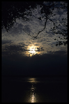 Day turns into night, Mekong River, Kratie, Cambodia
