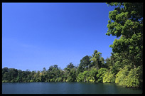 Boeng Yeak Lom with its circular crater-lake situated amid pristine jungle. Ban Lung, Ratanakiri, Cambodia