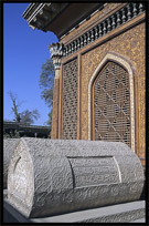 Tomb at the cemetery behind the Altyn Mosque. Yarkand, Xinjiang, China