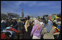 Sunday Market. Hotan, Xinjiang, China