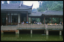 Chinese teahouse. Chengdu, Sichuan, China