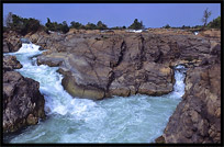 Tat Somphamit rapids (Li Phi Falls) on the four thousand islands. Si Phan Don, Don Khon, Laos