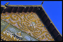 The roof of Wat Luang. Pakse, Laos