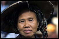 Tribal people on the market in Hsipaw.