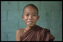 A Burmese monk at the monastery in Hsipaw.