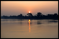 Sunset on the Ayeyarwady River.