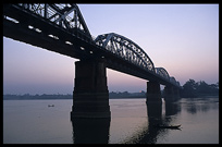 A bridge over the Ayeyarwady River.
