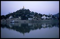 A picturesque monastery along the Ayeyarwady River.