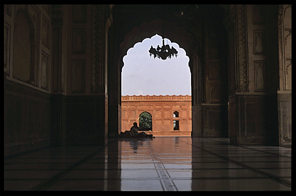 Inside the Badshahi Mosque. Lahore, Pakistan