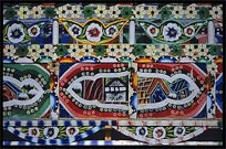 Detail of a colourful decorated long-haul truck. Taxila, Pakistan