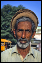 A portrait of a man belonging to the Pashtun tribe. Taxila, Pakistan