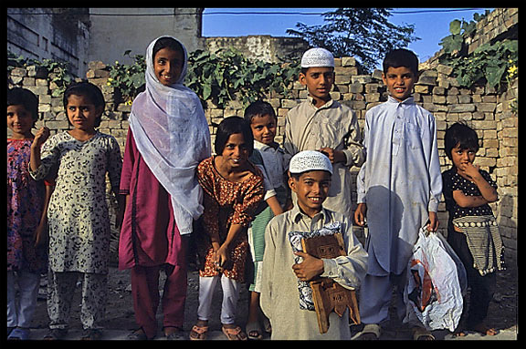 Portrait of Pakistani children. Taxila, Pakistan