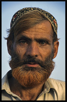 Portrait of a Baluch, the second largest tribe after the Pashtuns. Taxila, Pakistan