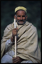 Portrait of a Pashtun shepherd. Madyan, Pakistan