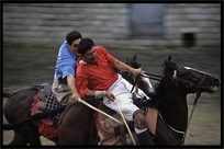 Polo, the most popular sport in northern Pakistan. Gilgit, Pakistan
