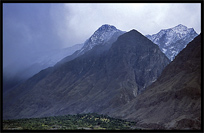 Spectacular views along the Karakoram Highway. Gilgit, Pakistan