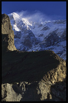 The Ultar II (7388m), seen from Karimabad at sunrise. Karimabad, Hunza, Pakistan