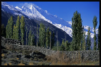 Hunza Valley and Rakaposhi (7790m), seen from Karimabad. Karimabad, Hunza, Pakistan