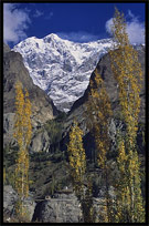 The Ultar II (7388m), until a few year ago one of the world's highest unclimbed peaks. Karimabad, Hunza, Pakistan