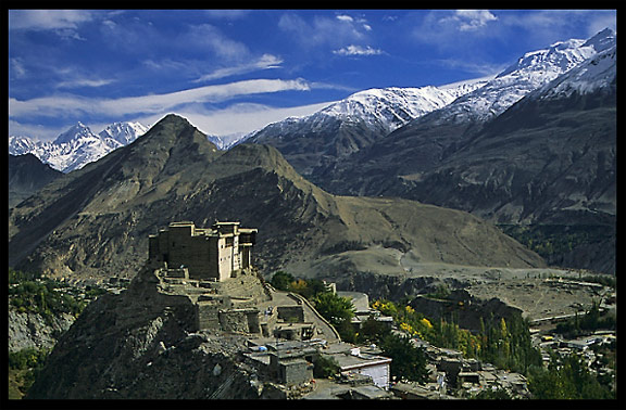 The Baltit Fort in the middle of the Hunza Valley. Karimabad, Hunza, Pakistan