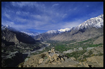 Hunza valley seen from Eagles Nest. Altit, Hunza, Pakistan
