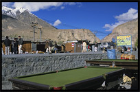 A pool table in the border town Sost, Karakoram Highway, Pakistan