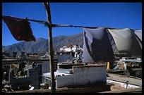 The Potala, prayer flags, new buildings, old buildings, a bit of everything. Lhasa, Tibet, China