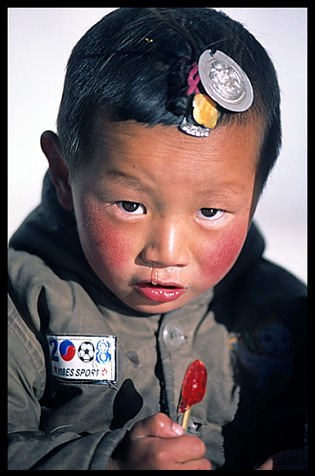 A young Tibetan child.